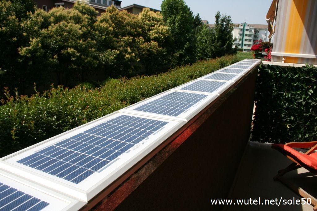 Pannello Solare Per Balcone : Wutel impianto fotovoltaico da balcone
