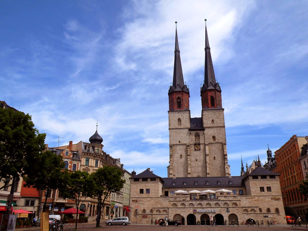 Western twin towers of the Market Church, Halle