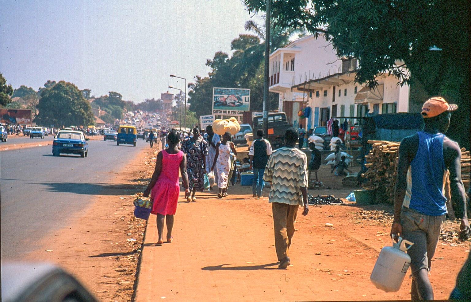 Guinea Bissu alrededores del mercado Bandin
