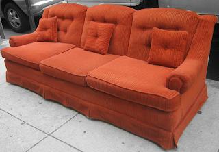 Uhuru furniture collectibles burnt orange retro 80s for Retro 80s furniture