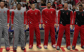 NBA 2K13 Houston Rockets Warmup Uniforms Patch