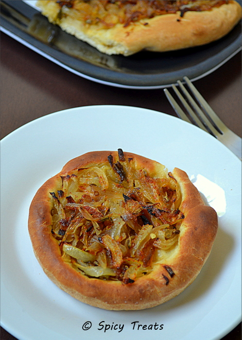 Spicy Treats: Onion Tart With Mustard N Fennel