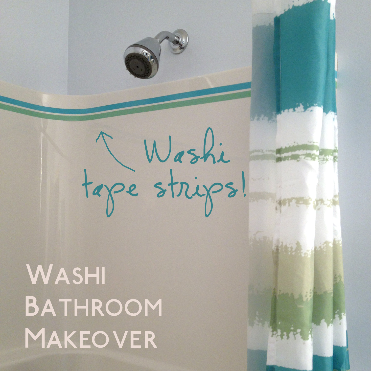 What happened next washi tape bathroom makeover