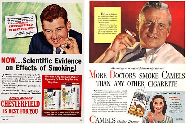 doctores recomendando fumar