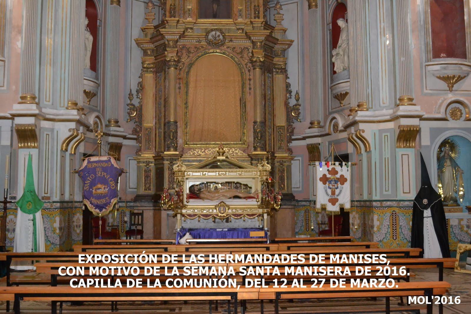 12.03.16 EXPOSICIÓN DE LA JUNTA DE HERMANDADES DE LA SEMANA SANTA MANISERA