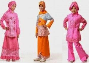 Koleksi model baju muslim modern anak perempuan