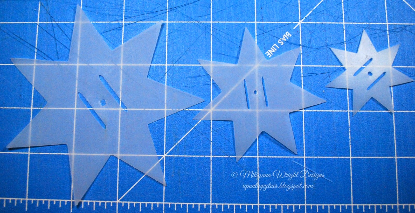 Up on tippy toes 7 point star bow video tutorial for How to cut a perfect star
