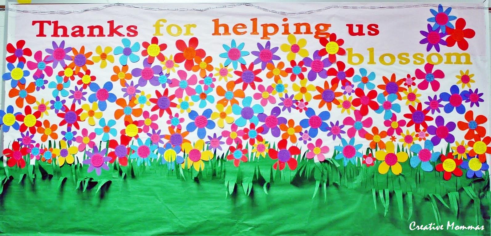 Garden Bulletin Board Ideas Creative mommas may pto teacher appreciation bulletin board workwithnaturefo