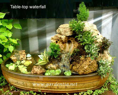 Waterfall Made With Submersible Mini Pump