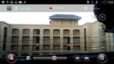 "View of caroo while recording in the ""video preview"" screen"