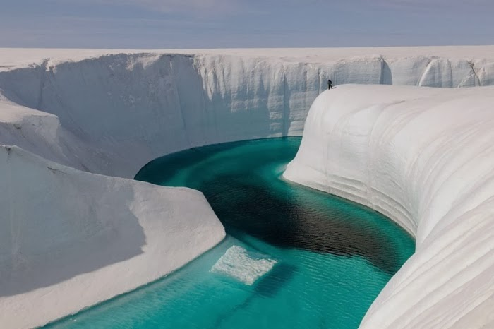 Blue River, Greenland - Top 10 Amazing Sites Created by Snow and Ice