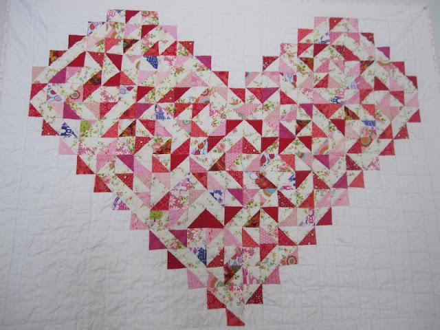 heart piece quilt