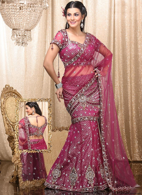 Party-Wear-Indian-Lehenga-Style-Sarees