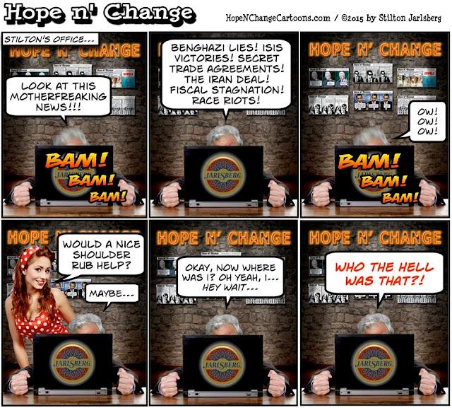 obama, obama jokes, political, humor, cartoon, conservative, hope n' change, hope and change, stilton jarlsberg, busty ross