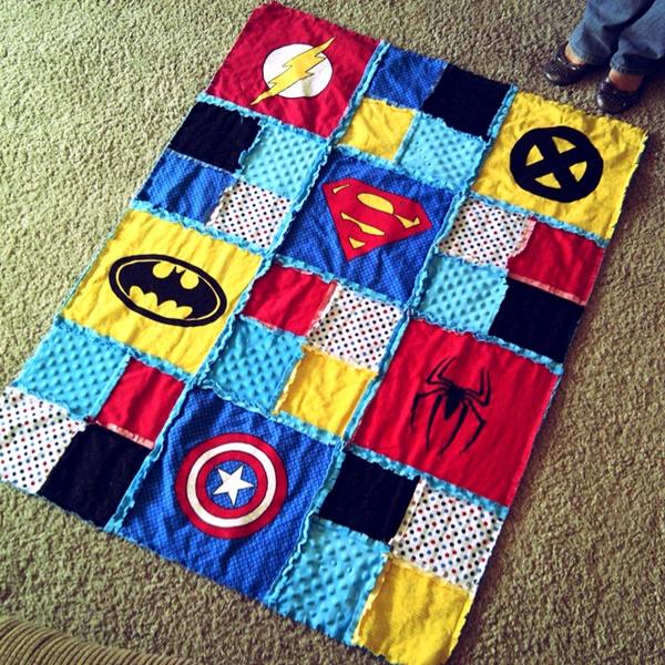 Pinteresting Summer: Superhero T-shirt Quilt