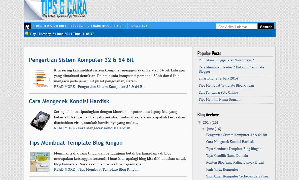 cara membuat template blog ringan dan loading cepat