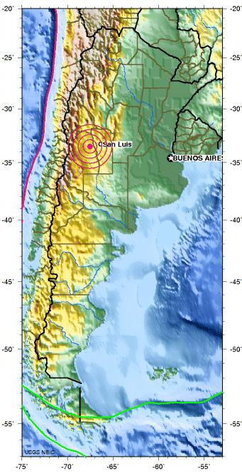 mendoza, argentina earthquake 2012 july 15