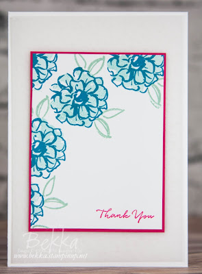 What I Love Thank You Card made using Free Stamps from Stampin' Up! UK