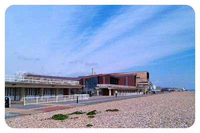 View of Splashpoint swimming pool from Worthing beach