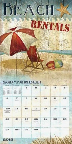 beach art wall calendar
