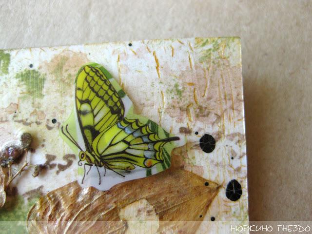 бабочка и кракелюр