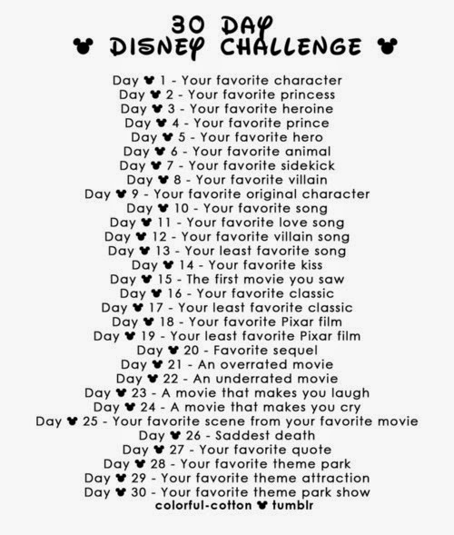 30 Day Blog Challenge Tumblr 30 Day Disney Challenge Day 1
