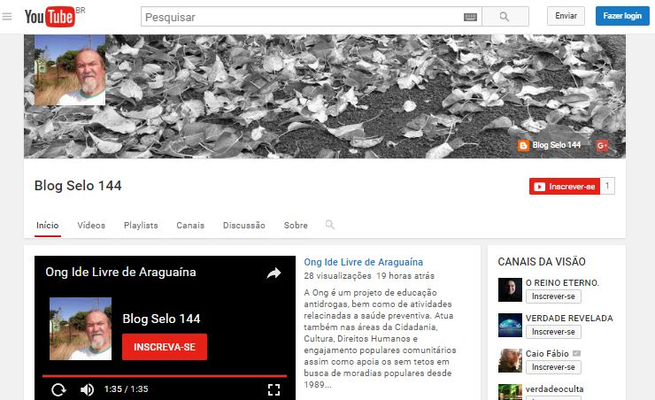CANAL DO YOUTUBE BLOG SELO 144