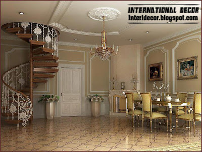 wood iron spiral staircase interior stairs design 2013 Round, spiral staircase, interior stairs designs
