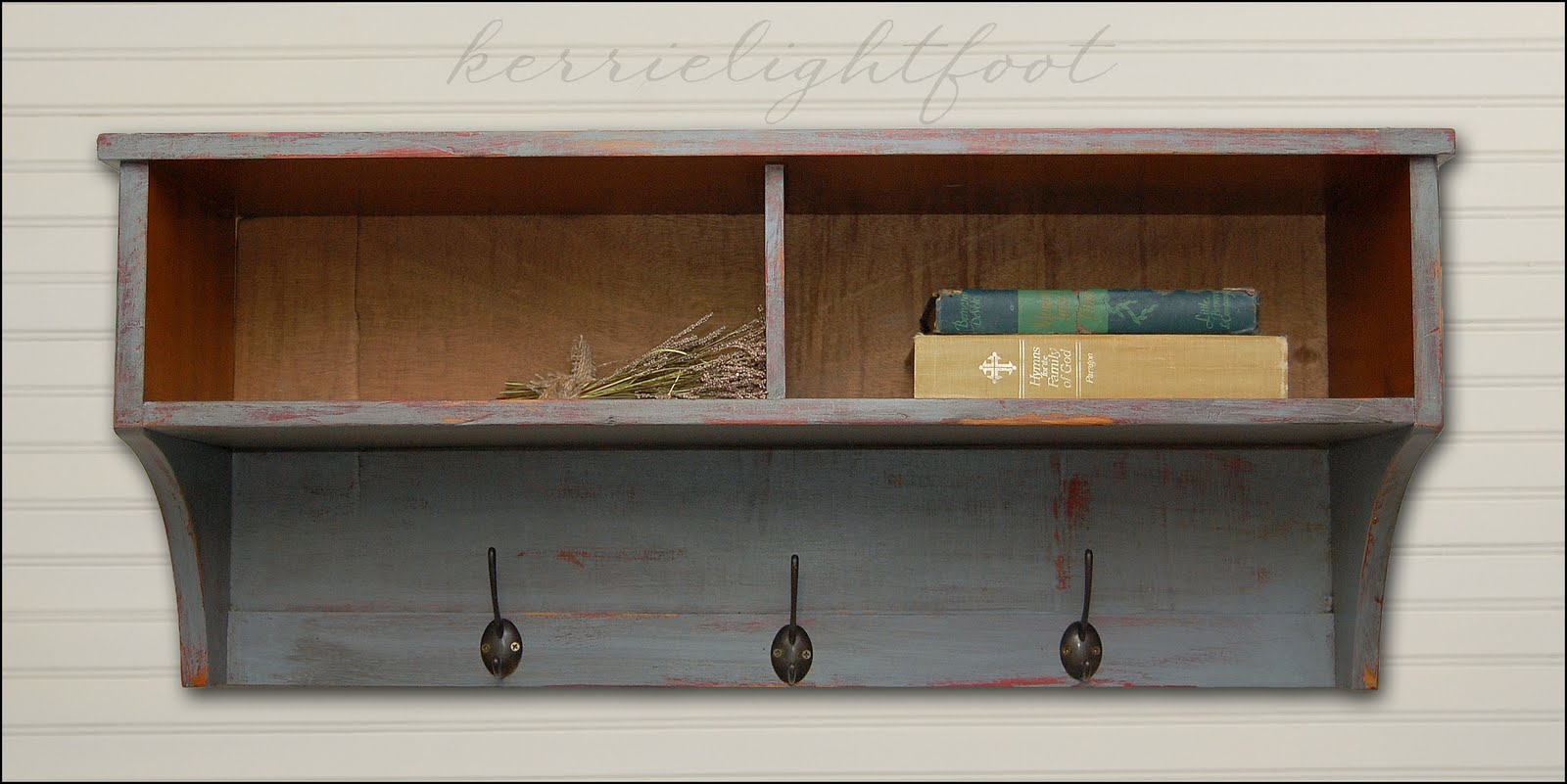 Entryway Storage Shelf In Red | Decoration Empire
