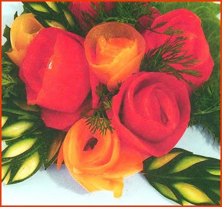 букет от рози-лесен урок по карвинг