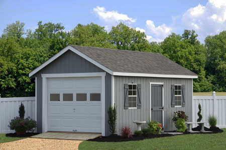 Prefab garage packages from sheds unlimited in lancaster pa for Prefabricated detached garage