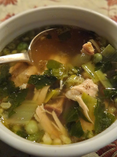 Scrumpdillyicious: Guy's Roast Turkey & Vegetable Soup with Wild Rice