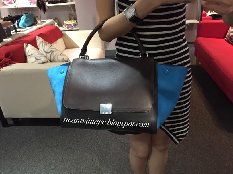 I Want Vintage | Vintage Designer Handbags: Celine Medium Trapeze ...