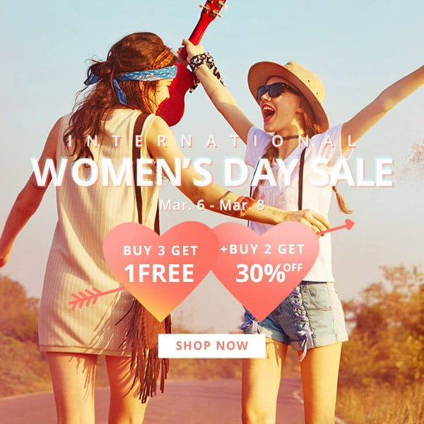 Zaful Women' Day Sale
