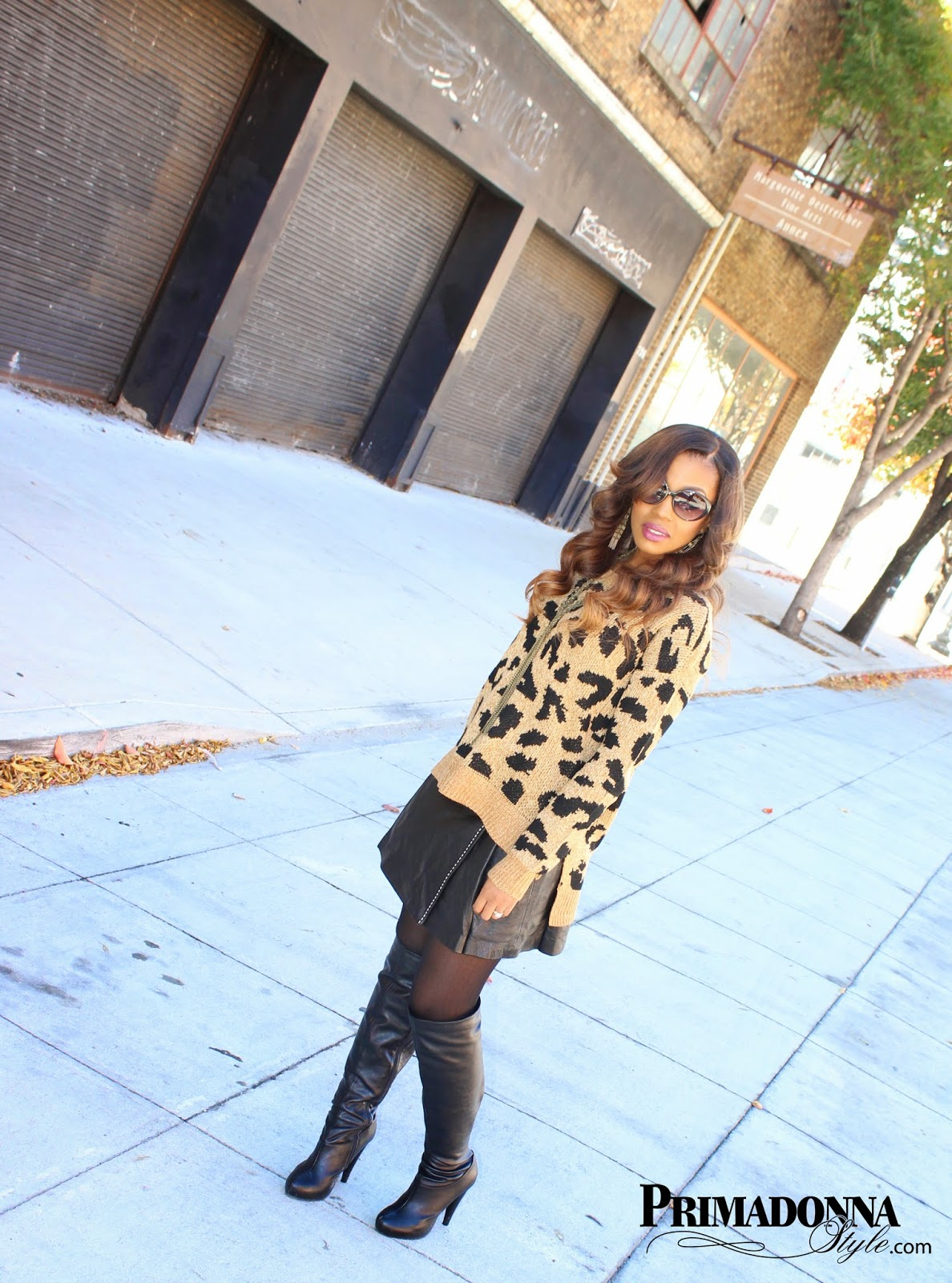 how to wear leopard print boots