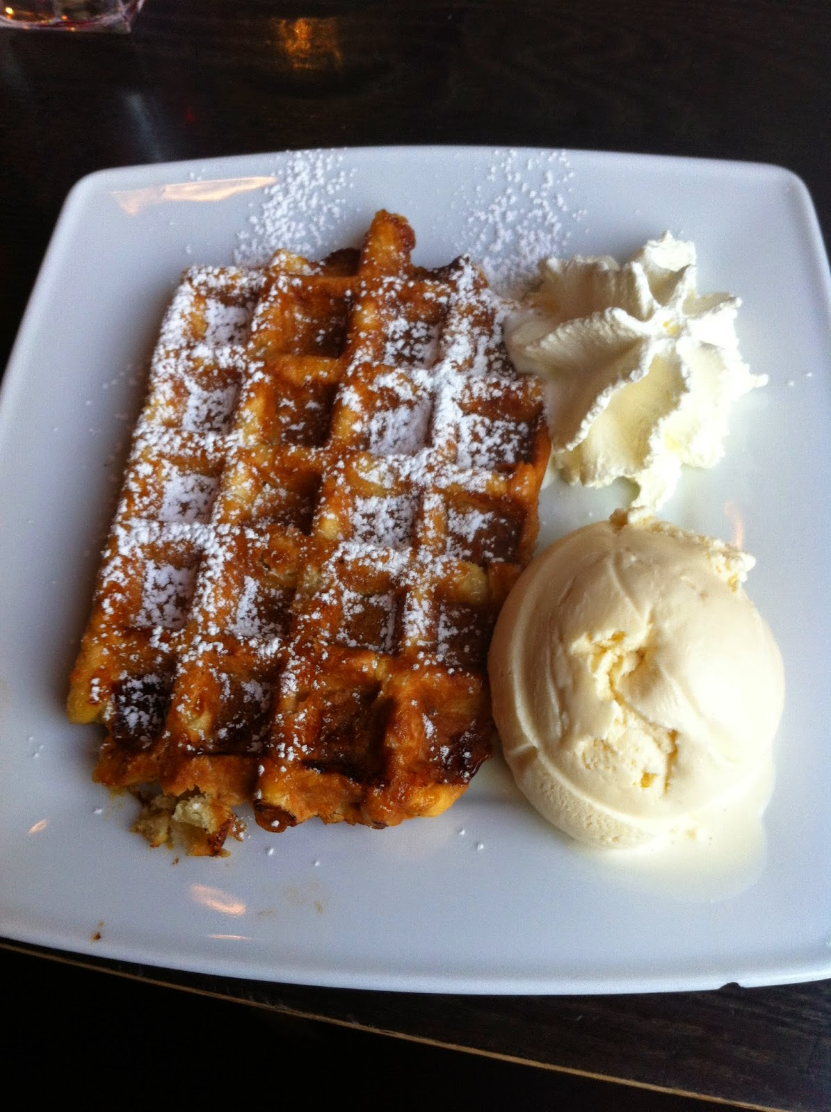 Belgian Waffle and Ice Cream