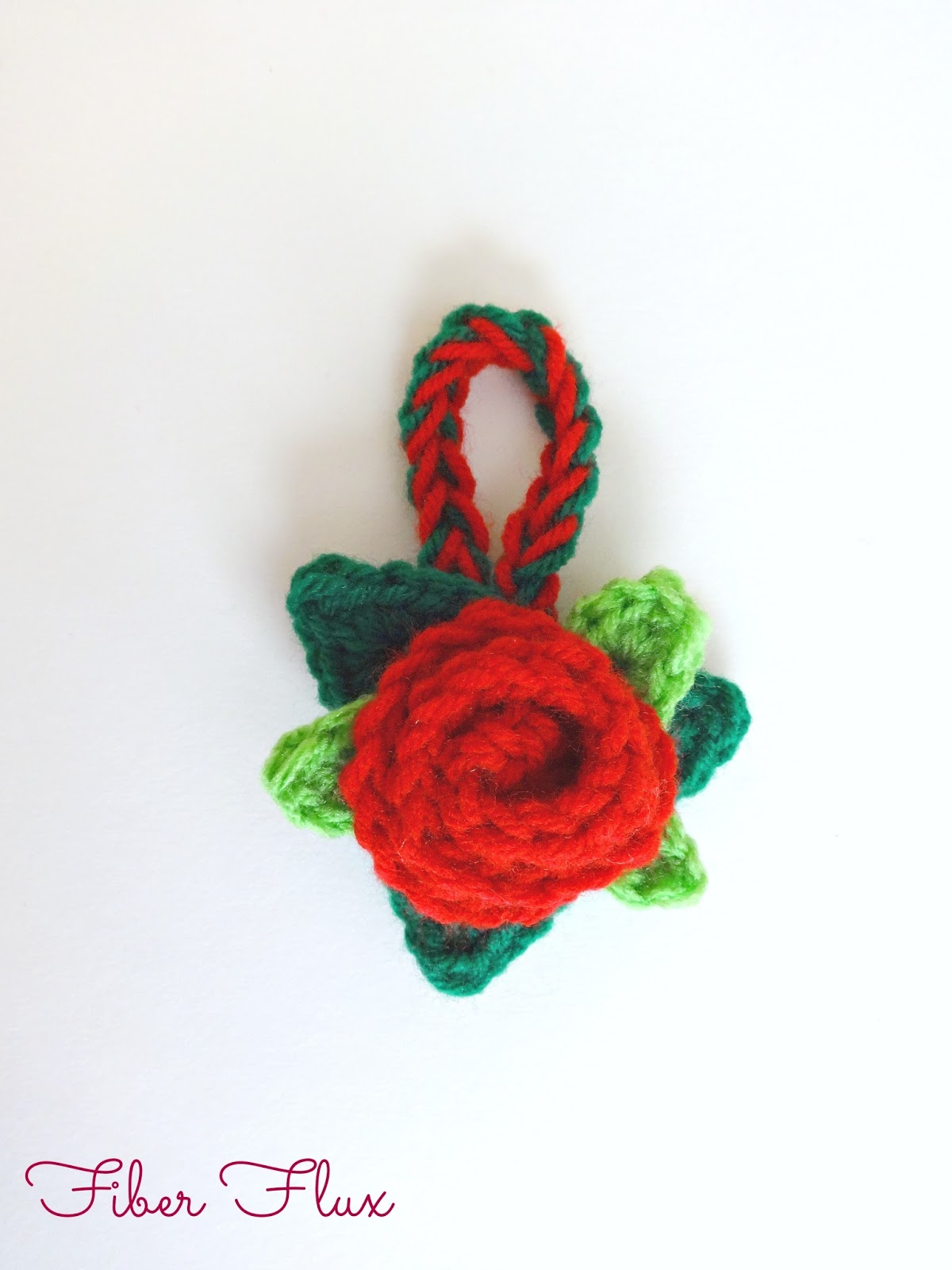 Rose christmas ornament - Christmas Rose Ornament