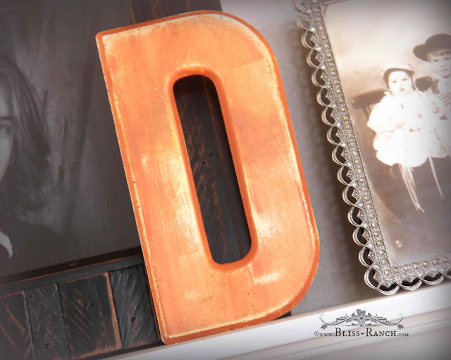 Marquee Letters Painted Orange, Bliss-Ranch.com
