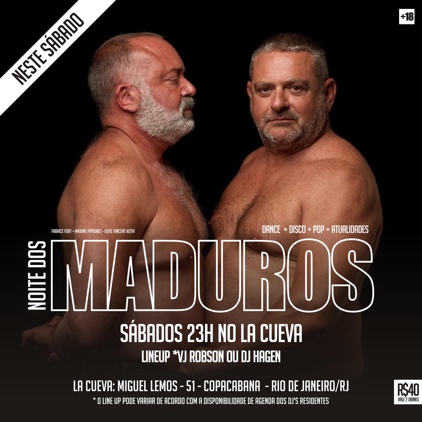SÁBADOS - 23H - NOITE DOS MADUROS