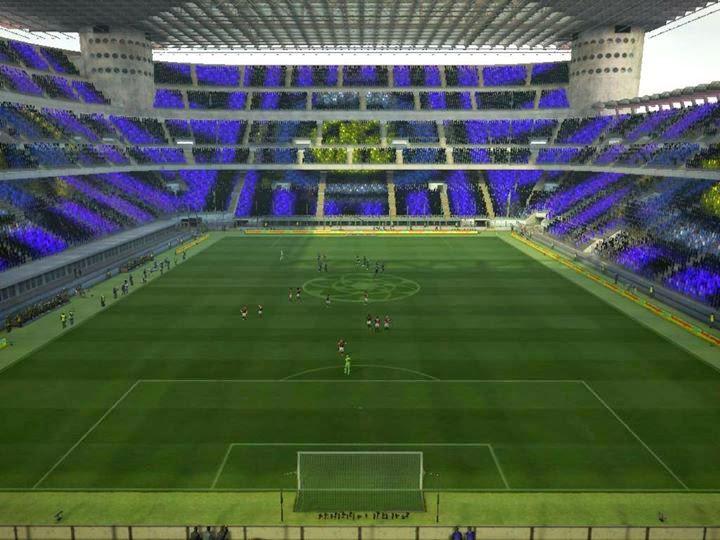 PES 2013 Giuseppe Meazza Stadium Turf & Coreografi by kurniawan