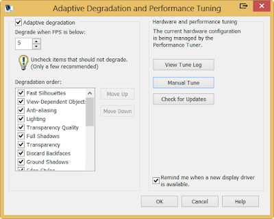 Adaptive Degradation and Performance Turing