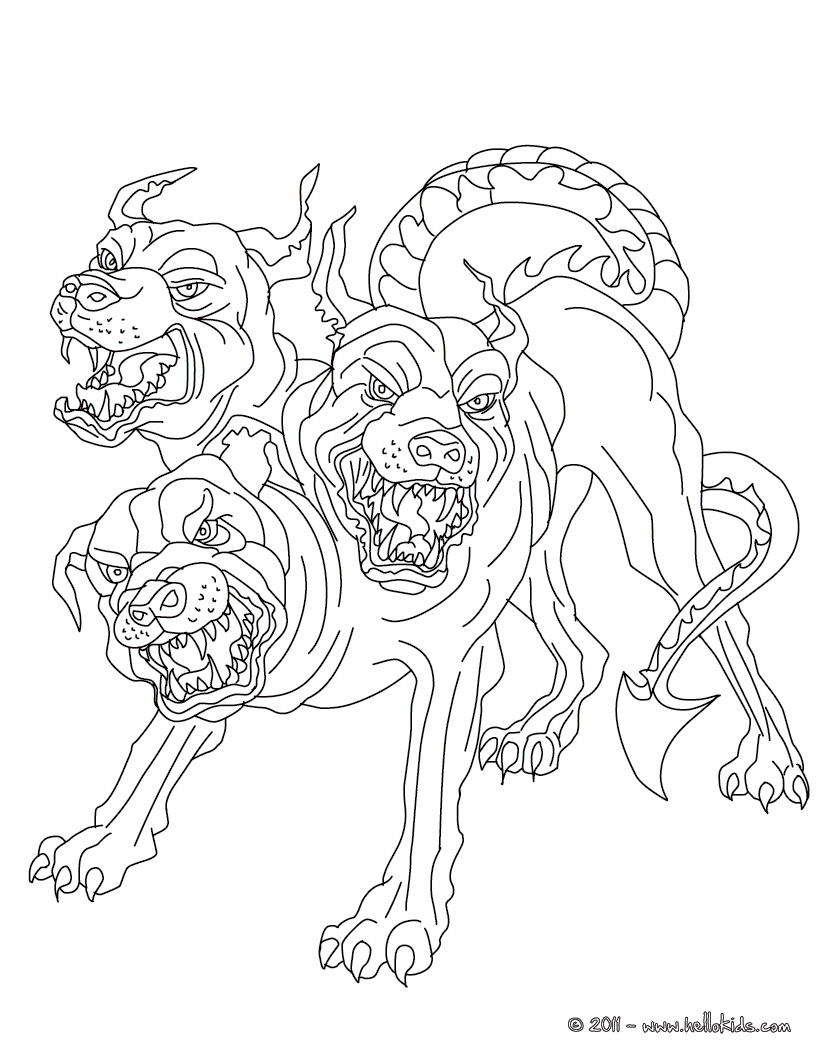 monster dog coloring pages - photo #13