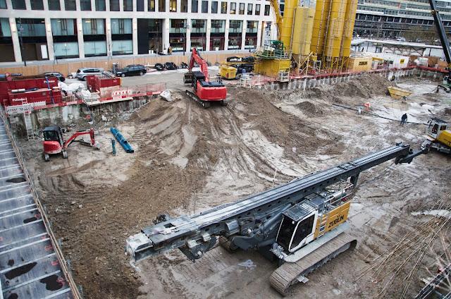 Baustelle Upper West, Hotel, Büro, Einzelhandel, (ursprünglich: Atlas Tower), geplante Höhe: 118 Meter, Breitscheidplatz, 10623 Berlin, 08.01.2014