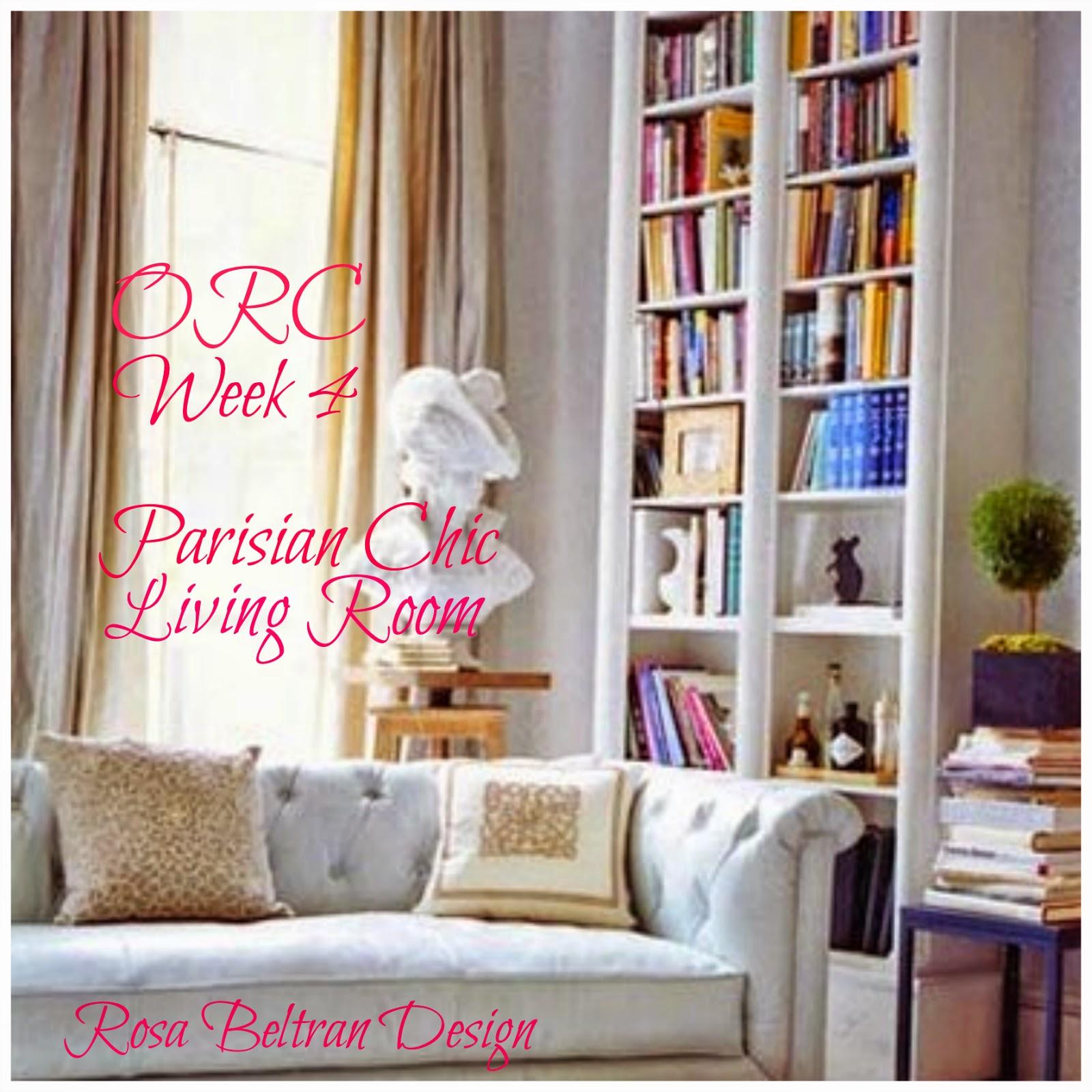 One Room Living Rosa Beltran Design One Room Challenge Parisian Chic Living Room