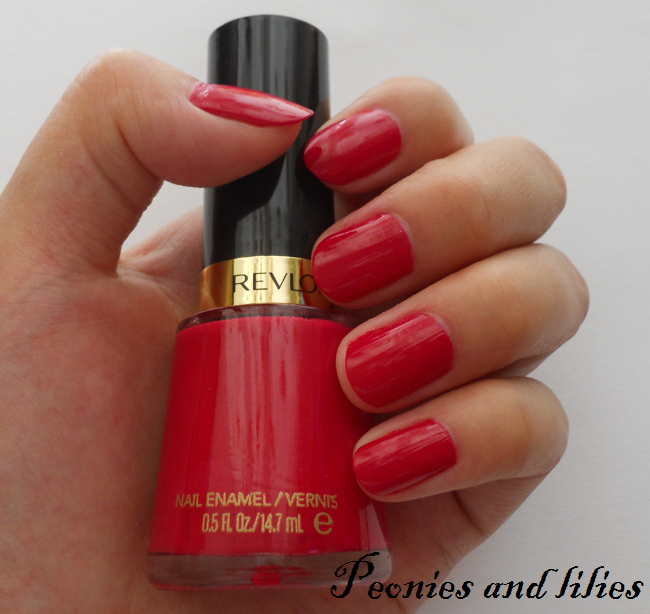 Revlon cherries in the snow, Revlon cherries in the snow nail polish swatch, revlon cherries in the snow nail polish review, revlon cherries in the snow NOTD, peonies and lilies, revlon cherries in the snow nail enamel review, revlon cherries in the snow nail enamel swatch