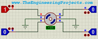 Stepper Motor Drive Circuit,Stepper Motor Circuit design in Proteus, Circuit Diagram for stepper motor