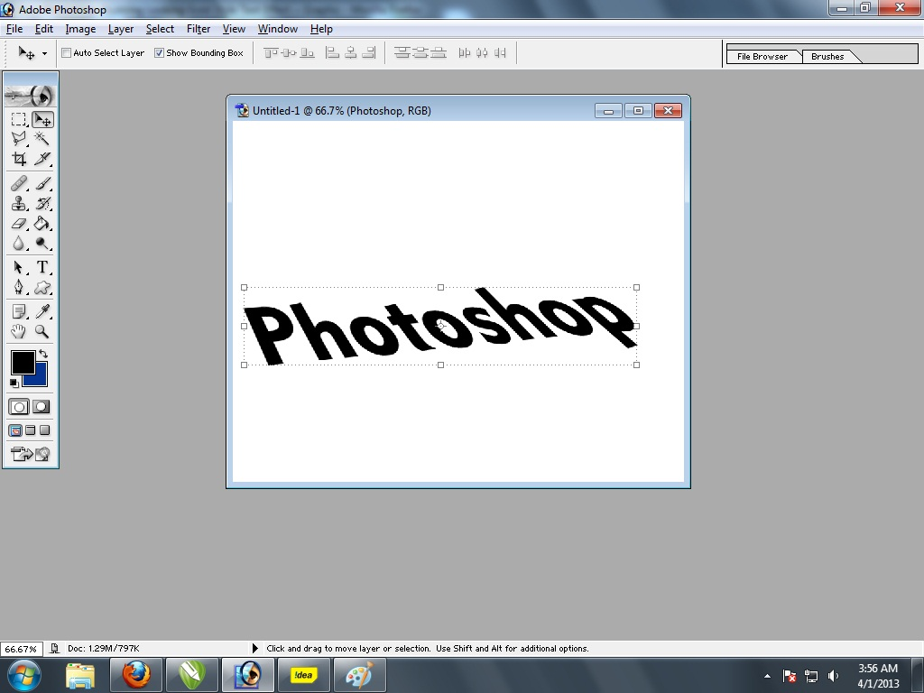 Quick text tutorial 3d realstic text in adobe photoshop 7 quick here is the trick select your text by black arrow right side 1st tool in tool panel tool then press and holds the alt key and press up arrow button from baditri Choice Image