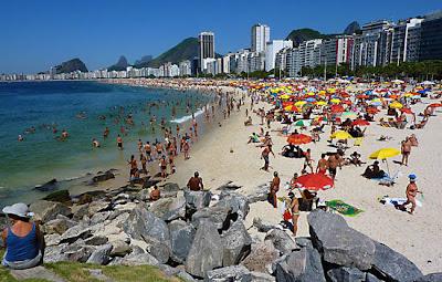 Playa de Copacabana en Rio de Janeiro