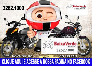 BAIXA VERDE HONDA - CLIQUE, ACESSE A NOSSA PGINA E VEJA AS NOVIDADES