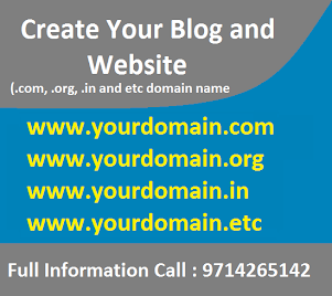 Create Your Blog And Website